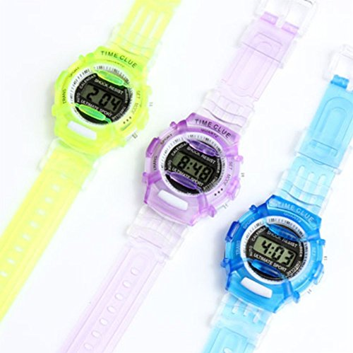 Price comparison product image YOYOSTORE 1 Pc Mix Color Fashion Student Wrist Outdoor Watch Kids Child Boy Girl Plastic Hiking Stopwatch Outdoor Sports Electronic Digital Adjustable Silicone Strap Display Wristwatches Gift