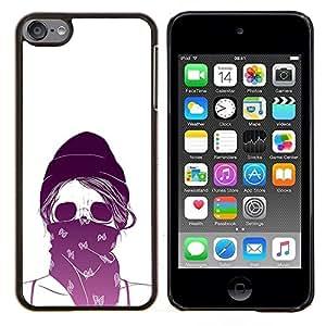 "Be-Star Único Patrón Plástico Duro Fundas Cover Cubre Hard Case Cover Para iPod Touch 6 ( Activista cráneo del motorista etiqueta blanca"" )"