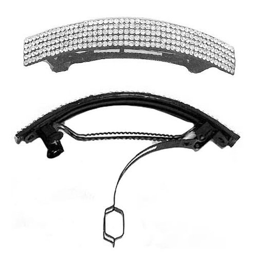 Rectangular Shaped Crystal Barrette NF86012 NM1 product image