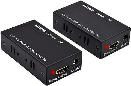 AMANKA HDMI Extender 60m HDMI Repetidor Convertidor 1080P HDMI ...