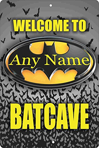 (Welcome To The Batcave Personalized Customized Decorative aluminum)