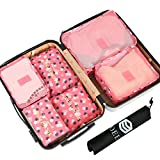 OEE 6 Set Travel Organizers Packing Cubes Luggage Organizers Compression Pouches