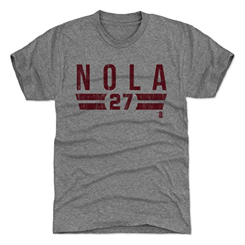 500 LEVEL Aaron Nola Triblend Shirt Large Tri Gray - Philadelphia Baseball Men's Apparel - Aaron Nola Font R