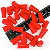 25 Piece 3/8 X 9/16 High Temp Silicone Rubber Tapered Plug Kit Powder Coating Custom Painting Supplies