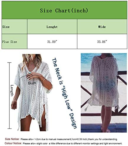 shermie Swimsuit Cover Ups for Women V-Neck Plus Size Swimwear Beach Cover Up