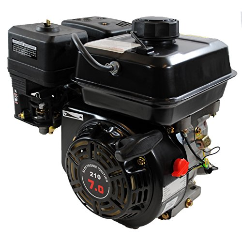 Shop4Omni Air Cooled Single Cylinder 4-Stroke 208cc 7 HP Gasoline Engine ()