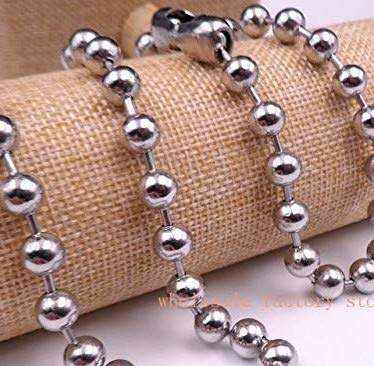 Tobillera de cadena de bolas de plata de acero inoxidable de ...