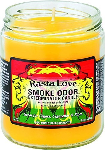 Odor Exterminator Candle Rasta Love 13oz by Smokers Candle ()