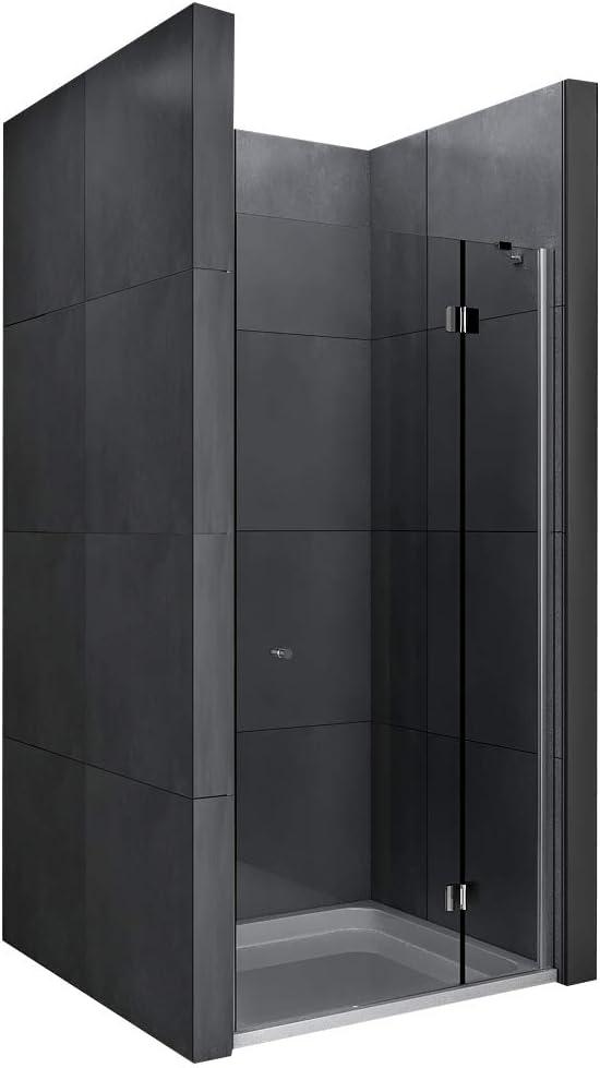 Mampara de 6mm, cristal con sistema Easy Clean cabina de ducha con puerta vaivén 100x 195cm Incluye cristal perfeccionado