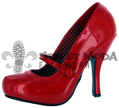 Pleaser EU-CUTIEPIE-02 - Zapatos de tacón de material sintético mujer Rojo