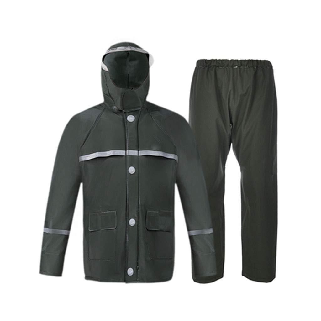 Vert XXL WSWJJXB Pantalon imperméable imperméable Costume Double Couche Double Poncho pour Hommes et Femmes Adultes, idéal pour Les randonnées en Camping en Plein air
