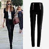 Lookatool Women's Zip Pencil Pants High Waisted Slim Stretch Leggings Trousers Pants