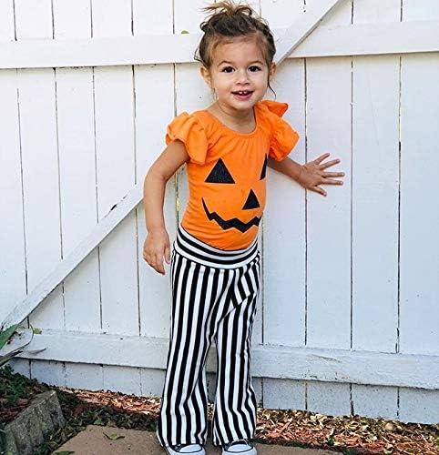 Halloween Ruffle Pants Black And Orange Stripes Pants Girls Ruffle Bottoms Ruffles Bottoms Halloween