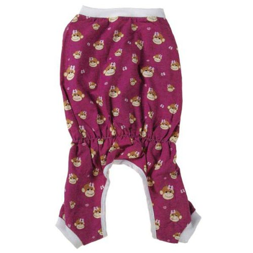 Monkey Business Dog Pajamas Size: Medium (16'' H x 11.5'' W x 0.25'' D), Style: Ty by East Side Collection (Image #1)