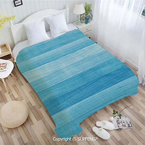 (Luxury Bed Blanket Wooden Planks Painted Texture Image Oak Tree Surface Maple Pine Board Stripes De(W59xL78.7 inch) Easy Care Machine Wash for Bedroom/Living Room/Camping etc )