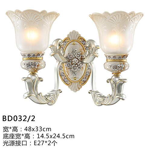 JhyQzyzqj Wall Sconce Wall Lights Living Room Aisle Bedroom Bedside lamp Staircase Balcony Room Outdoor American Simple Wall Lamps Wall Lights Resin (48X33cm) Wall Lights