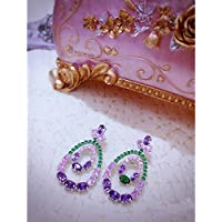 Uhomate Droplet Shape Water Drop Crystal Earrings Fashion Crystal Stud Earring Womans Earring Sterling Silver J008
