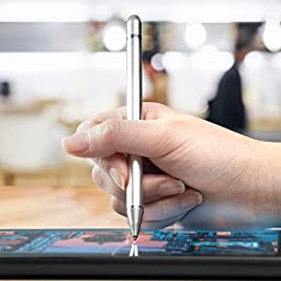 Stylus Pen, BoxWave [AccuPoint Active Stylus] Electronic Stylus with Ultra Fine Tip for - Metallic Silver