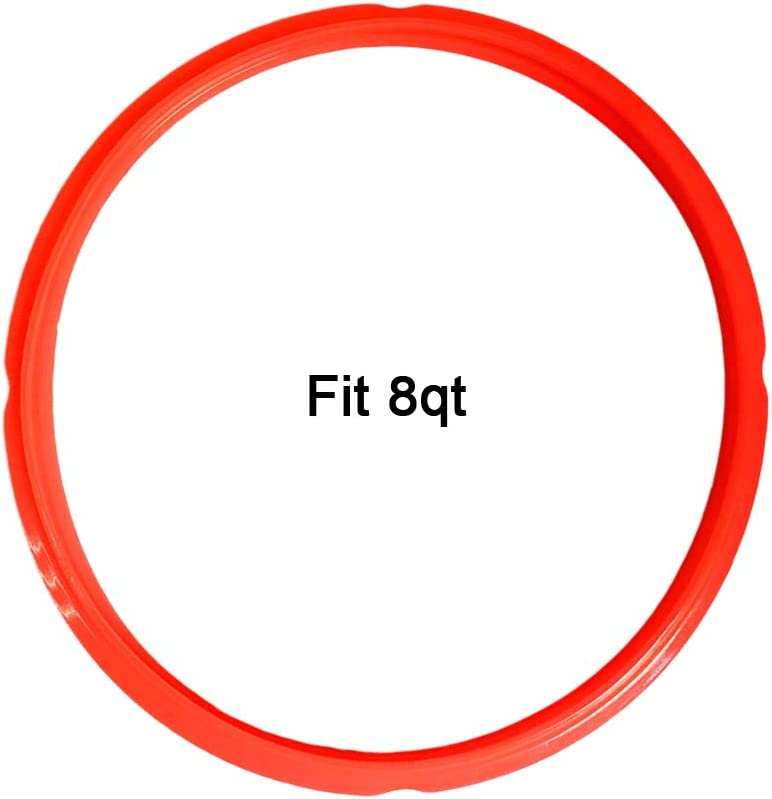 Silicone Sealing Ring for Instant Pot Accessories,Pressure Cooker Sealing Ring White/Red/Blue (Red, 8 Quart)