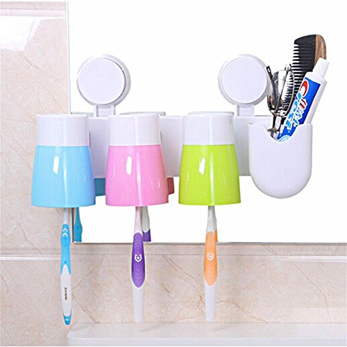 Multifunctional Practical Cute Creative Toothpaste Toothbrush Cup Household Holder Tool