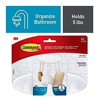 Command Bath Multi-Hook, 5-Pound Capacity, Organize your dorm