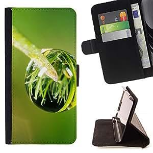 """Planta Naturaleza Forrest Flor 95"""" Colorida Impresión Funda Cuero Monedero Caja Bolsa Cubierta Caja Piel Id Credit Card Slots Para HTC One M7"""