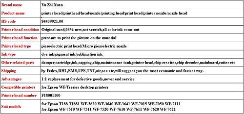 Printer Parts Original 98/% New Printing Head for Eps0n WF 3640 WF 3641 WF 7015 WF 7050 WF 7111 Printer Nozzle