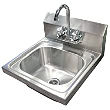 """Omcan Wall Mounted Hand Sink with 4"""" Faucet"""