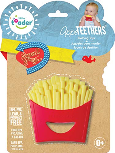 Little Toader Teething Toys - Soft Silicone Food Shaped BPA Free Teethers (French Fries) (Fries French Photo)