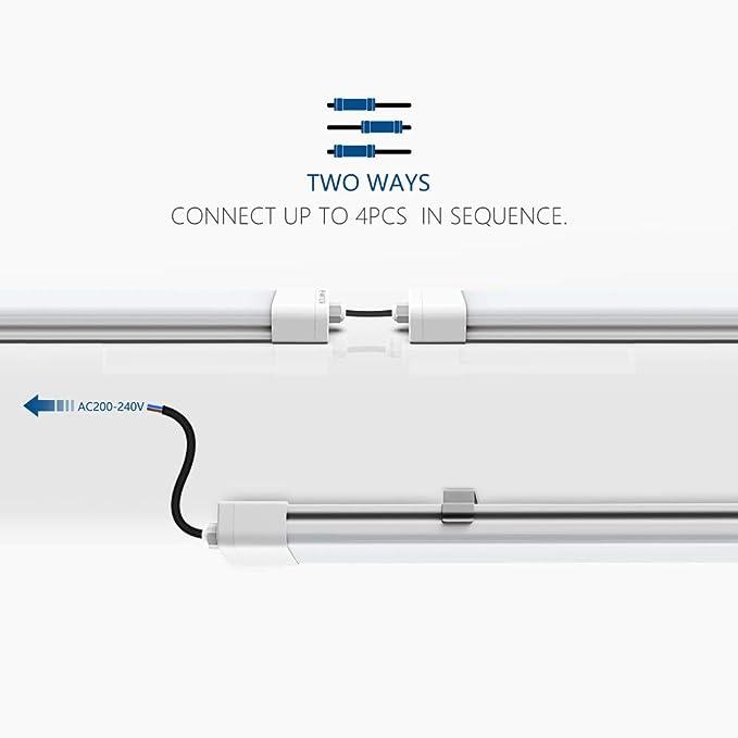 5 St/ück, 45W//150CM LED Feuchtraumleuchte Deckenleuchte Pendelleuchte Badlampe ANTEN Wasserdicht f/ür Inne und Drau/ßen