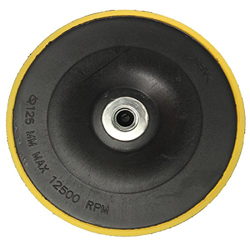 TOOGOO(R)Polierteller Stuetzteller Schleifteller Klettteller M14 Forte Poliermaschine Neu K1 Gewindedurchmesser: 125MM 30%OFF