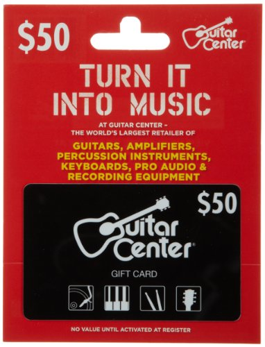 guitar center gift card 50 electronics audio audio components audio amplifiers. Black Bedroom Furniture Sets. Home Design Ideas
