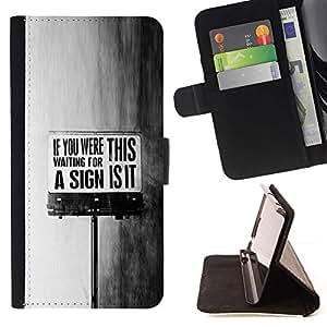 For Samsung Galaxy Note 4 IV Case , This Is It sesión Negro Mensaje Texto blanco- la tarjeta de Crédito Slots PU Funda de cuero Monedero caso cubierta de piel