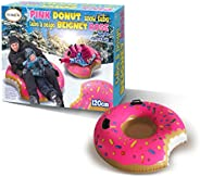 Giant Pink Donut Inflatable Ride-on Snow Tube - 120 cm (4 feet)