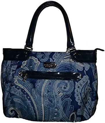 Jessica Simpson Luggage Spoonful of Sugar Laptop Tote, Blue Paisley