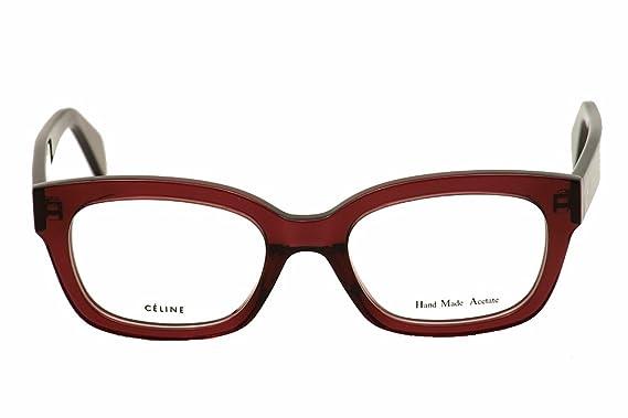 69c911e348c Amazon.com  Celine 41329 Eyeglasses-0LFY Burgundy Shiny -52mm  Clothing