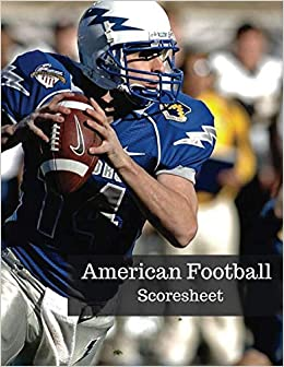 American Football Scoresheet: Rugby Sport League Score Sheet