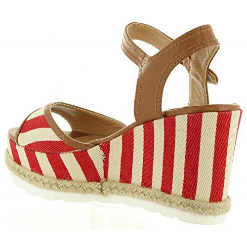 Sandalias de Mujer REFRESH 63508 LONA ROJO