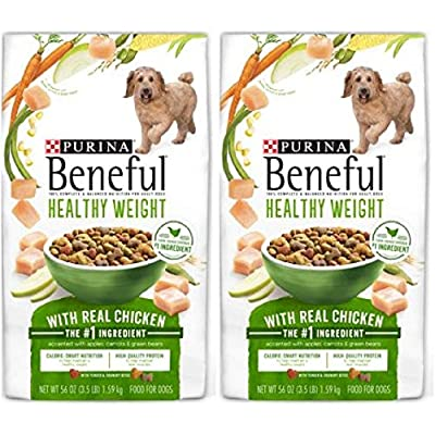 2 Bags of Purina Beneful Healthy Weight with Real Chicken Adult Dry Dog Food - 3.5 lb. Bag ea