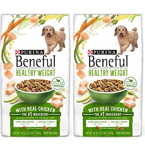 2 Bags of Purina Beneful Healthy Weight with Real Chicken Adult Dry Dog Food - 3.5 lb. Bag ea by Purina