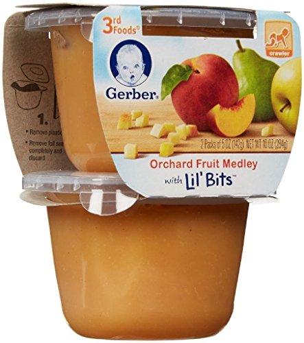 Foods Fruit Medley (Gerber 3rd Foods Lil' Bits Purees - Orchard Fruit Medley - 5 oz - 2 ct - 6 pk)