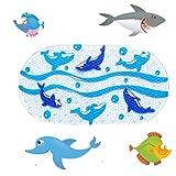 Kids Cartoon Non Slip Mats Mildew Resistant Non Slip Mats for Children Whale