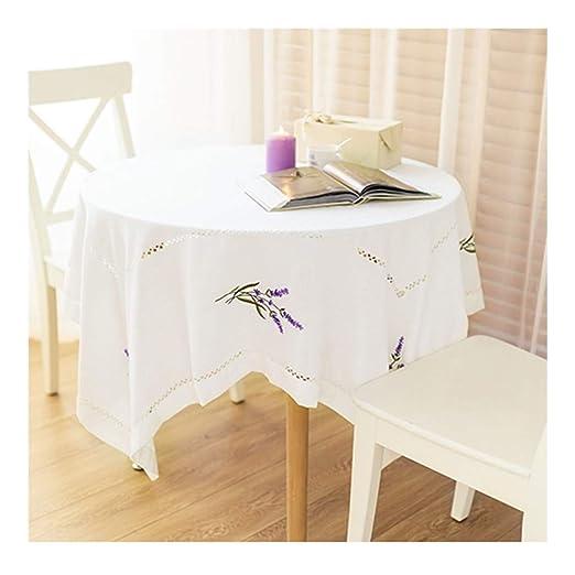 Tablecloth Zxj Mantel Redonda - de Encaje de algodón Blanca ...
