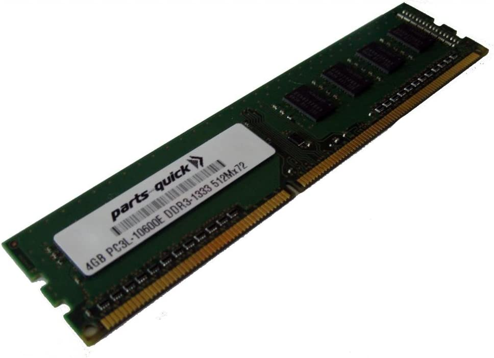 parts-quick 4GB Replacement Memory Module for Dell Precision Workstation T1600 PC3L-10600E DDR3 1333MHz 2RX8 UDIMM Brand