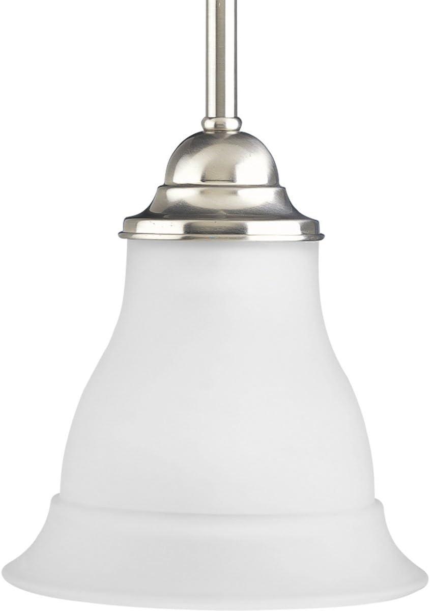 Progress Lighting P5096-09 1-Light Mini-Pendant, Brushed Nickel