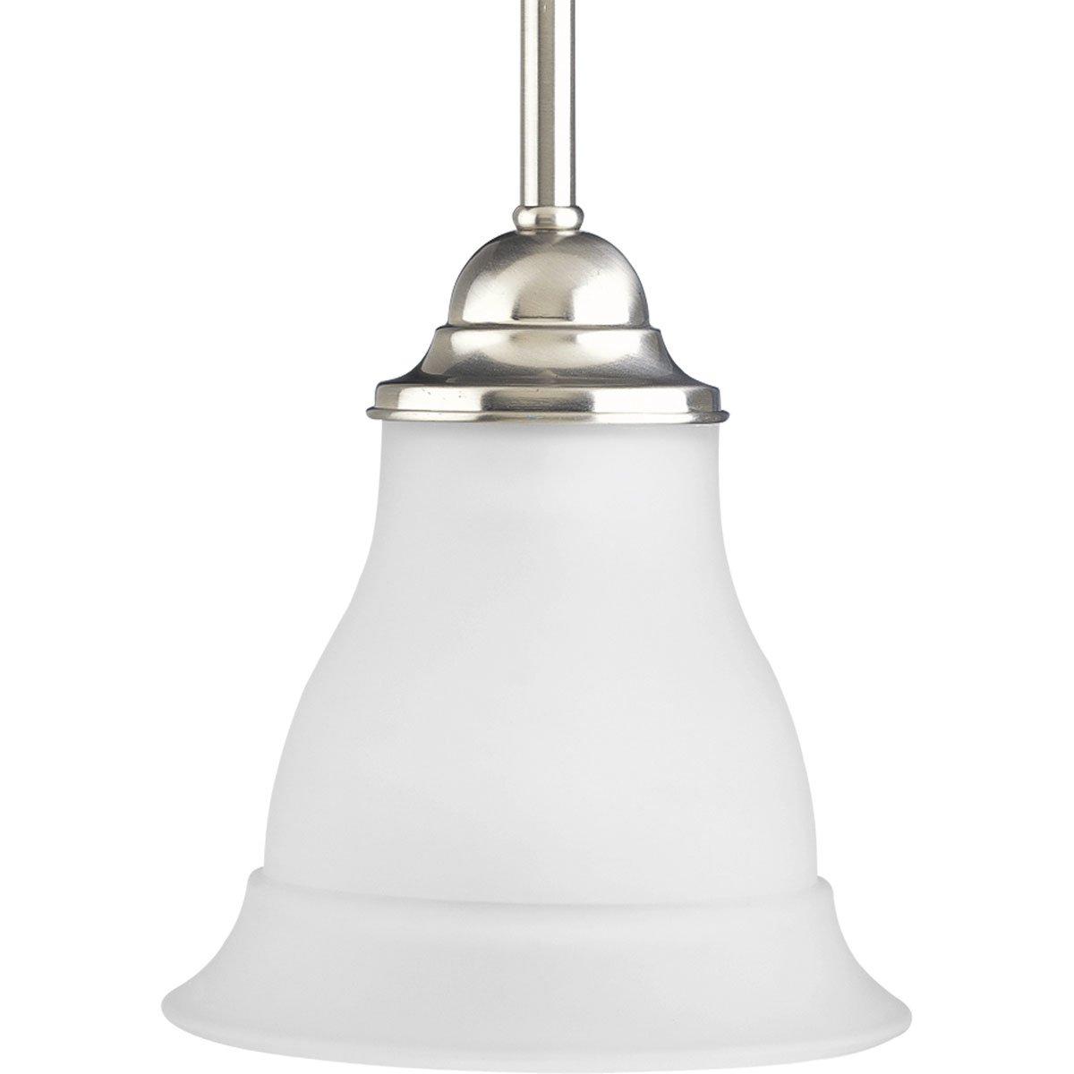 Progress Lighting P5096 09 1 Light Mini Pendant Brushed Nickel