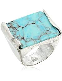 Robert Lee Morris Mosaic Semiprecious Turquoise Stone Ring, Size 7.5