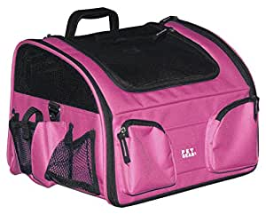Pet Gear Bike Basket 3-in-1 Car Seat / Carrier / Bike Basket for Cats and Small Dogs, 14-inches, Pink