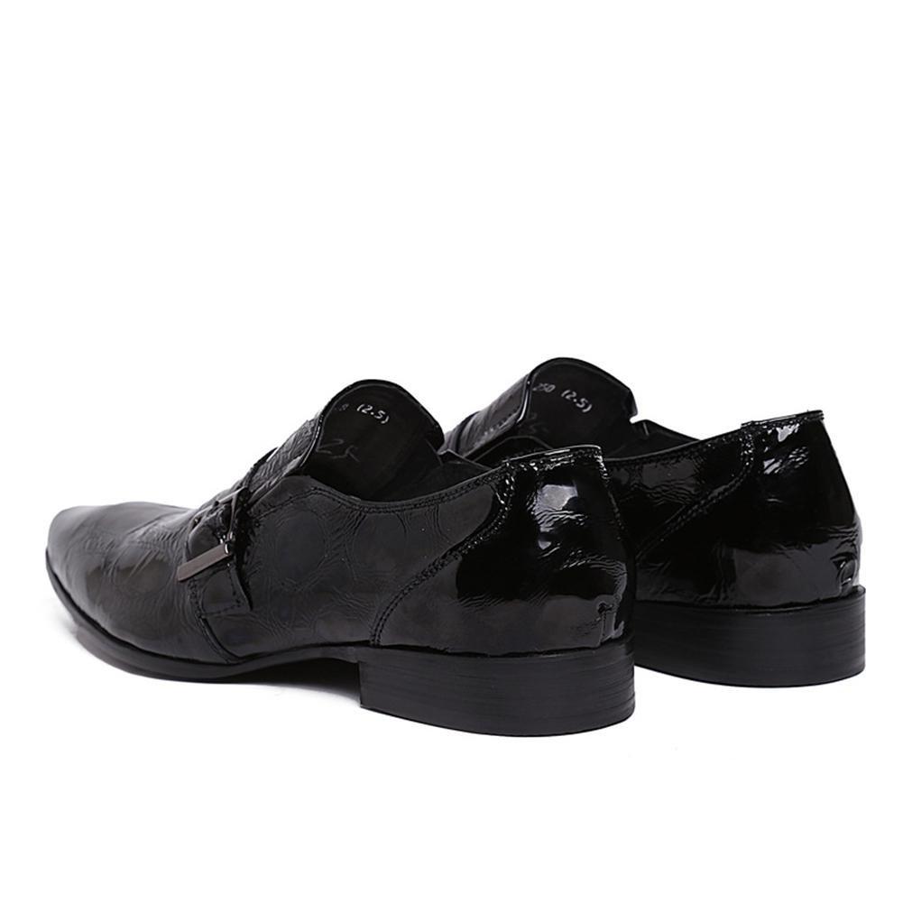 Männer Schlüpfen Hochzeit Patent Leder Schuhe Schwarz Schwarz Schwarz Formal Geschäft Spitz Zehe Oxford zum Männer Party Größe 38-45 fb60a4