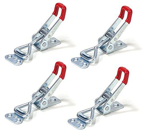 - POWERTEC 20311 Pull-Action Latch Toggle Clamp, 220 lbs Capacity, 4001, 4PK